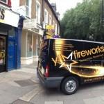 YTM Fireworks Shop and Van in London